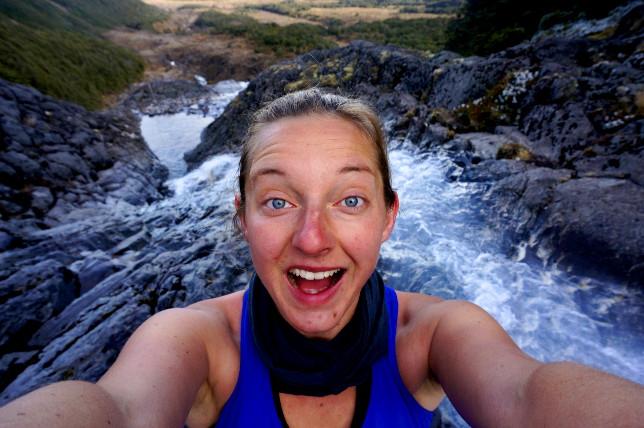 waterfall selfie