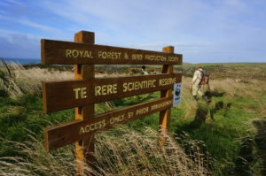 Entrance to Te Rere Reserve.
