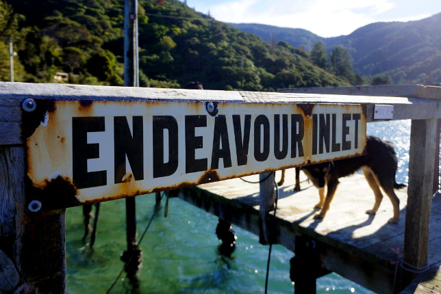 jetty sign endeavour inlet