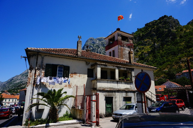 House next to the busstation in Kotor.