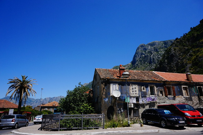Houses at Kotor mainroad.